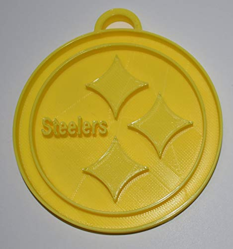 YNGLLC Pittsburgh Steelers NFL Football Logo Hanging Ornament Holiday Christmas Decor 3D Printed Made in USA PR2077