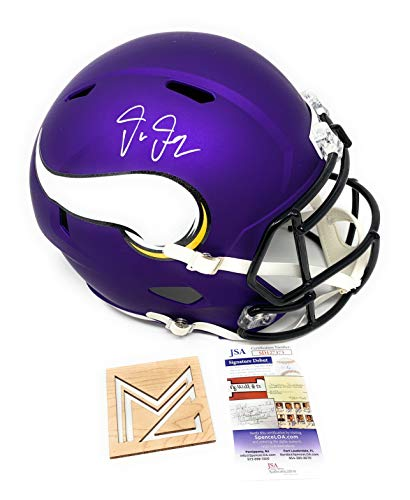 Justin Jefferson Signed Autograph Speed Full Size