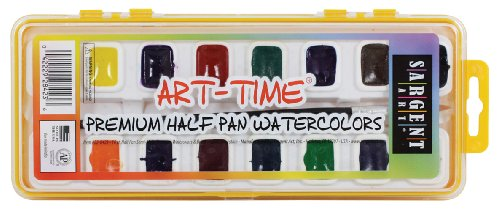 Sargent Art 22-8423 16-Count Art Time Premium Watercolor Set, Half-Pan with Brush by Sargent Art