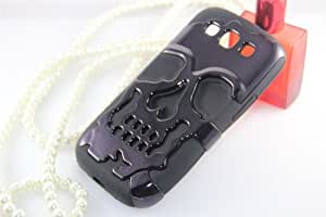 Skull Hard Hybrid Dual Layer Rubber Phone Case Cover for Apple IPhone 4 4S (Black 4)
