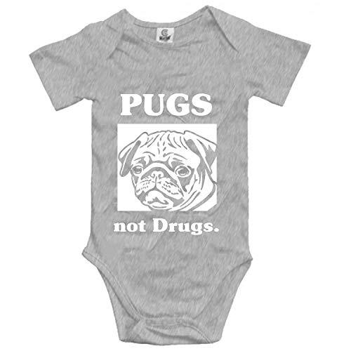 Pugs Not Drugs Romper Jumpsuit Unisex Baby Bodysuits]()