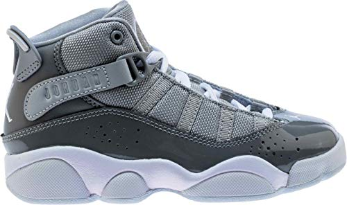 Jordan 6 Rings Cool Grey/White-Wolf Grey (PS) (1 M US Little Kid) (Kids Nike Shoes Jordan 1)