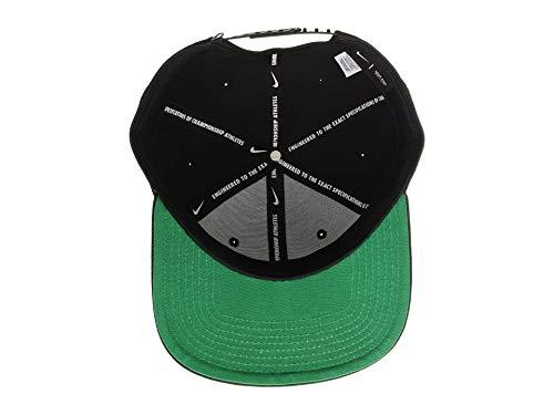 Nike Sportswear Pro Adjustable Unisex Hat Black/Pine Green/White 891284-010 3