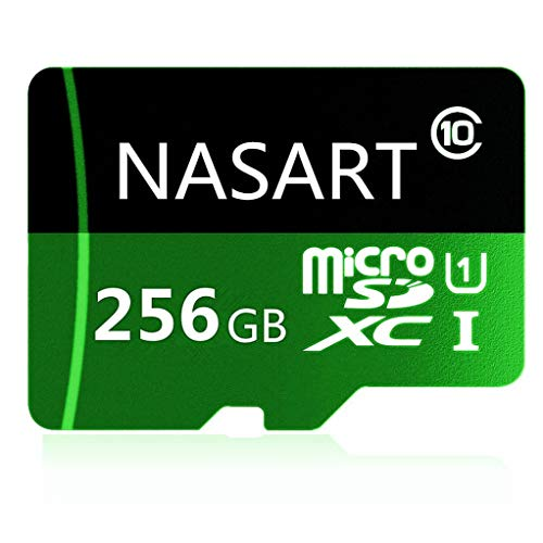 NASARTEN 256GB/400GB Micro SD SDXC Card, Class 10 Memory TF Card with Adapter-Fit for Phone,Tablet and PCs (256GB) (Phone Memory Adapter)