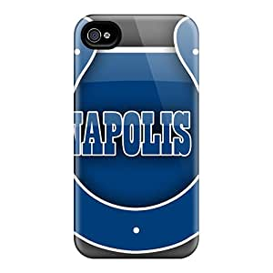 AnnaDubois Iphone 4/4s Great Hard Phone Cases Provide Private Custom Realistic Indianapolis Colts Pattern [eqe9802UofM]