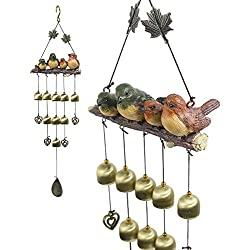 Monsiter Wind Chimes with Birds Decoration Outdoor Garden and Home Decor