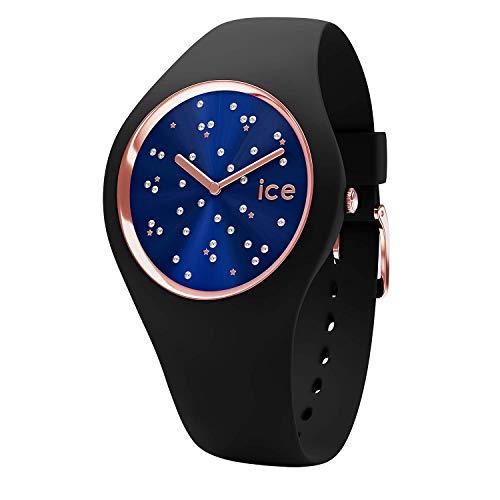 ICE-WATCH – Ice Cosmos Star Deep Blue, Reloj Negro para Mujer con Correa de Silicona