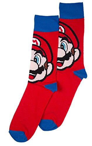 Mens Super Mario Brothers Mario - Mario Socks