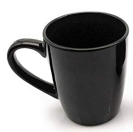 Buy Satyam Kraft Ceramic Coffee Mug 1 Piece Black 350 Ml Online At Low Prices In India Amazon In