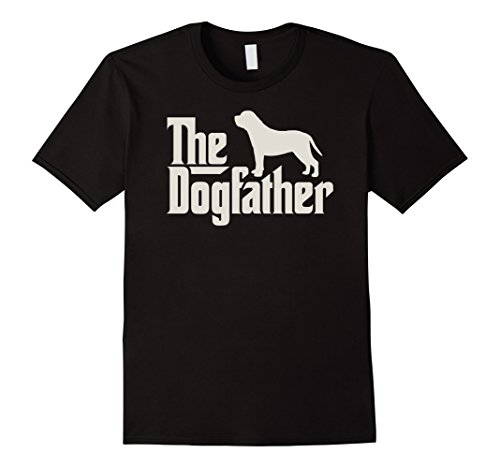 Mens The Dogfather English Mastiff Funny Dog Owner Shirt Large Black