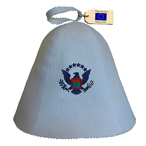 Allforsauna Sauna Hat Russian Banya Cap 100% Wool Felt Modern Lightweight Head Protection for Men and Women | Eagle