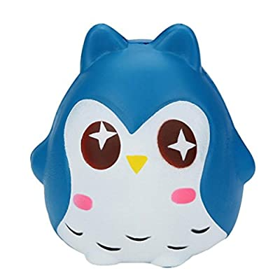 FarJing Jumbo Squeeze Toys Soft Owl Doll Scented Slow Rising Stress Reliever Toys