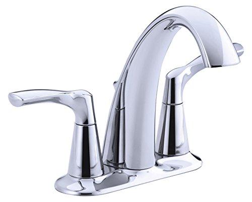 Chrome Faucet Lavatory 2h (KOHLER R37024-4D1-CP 2H CH LAV FAUCET W/POPUP)
