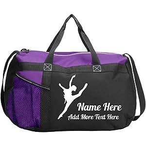 Amazon.com: Bolsa de danza personalizada: bolsa de gimnasio ...