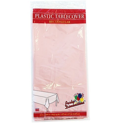Plastic Party Tablecloths - Disposable, Rectangular Tablecovers - 4 Pack - Pink - By Party Dimensions