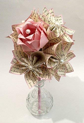 Dozen-I-Love-You-Paper-Flowers-Roses-You-choose-text-colors-One-of-a-kind-origami-one-of-a-kind-gift-wedding-bouquet-paper-bouquet-traditional-first-anniversary-gift