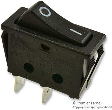ZF ELECTRONICS-SRB22A2FBBNN-SWITCHROCKERSPST10A250VBLACK 5PK