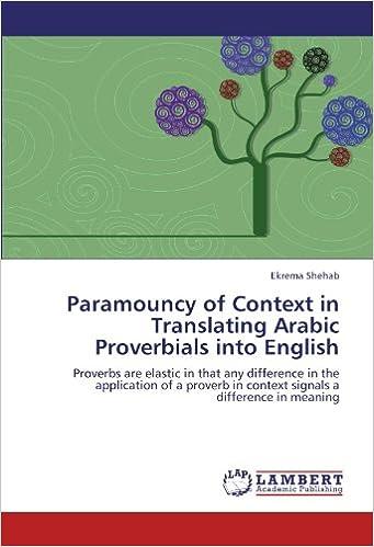 Amazon com: Paramouncy of Context in Translating Arabic
