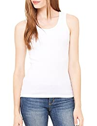 Crystal Essential Longer Length Ribbed Cotton Tank Top