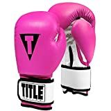 Title Boxing Premier Leather Super Bag Gloves 2.0, Hot Pink/White, Medium