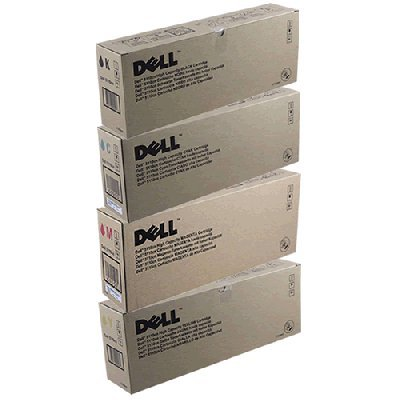 Dell 5110CN High Yield Lot of 4 Yellow, Cyan, Black and Magenta ()