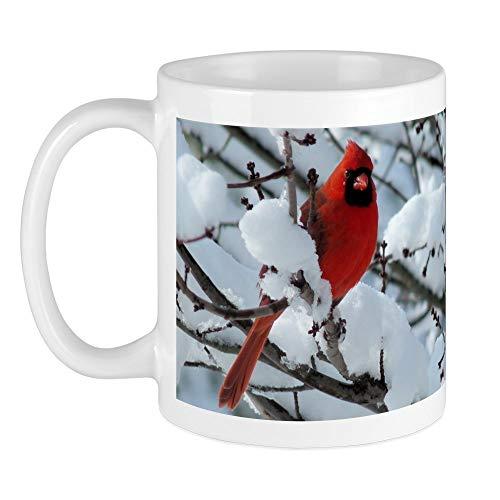 - CafePress Snow Cardinal Mug Unique Coffee Mug, Coffee Cup
