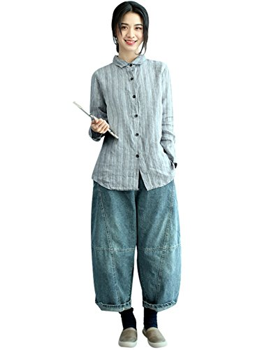 Elástica Mujeres Anchos Pantalones Youlee Estilo 1 Cintura 8ApCCwgq