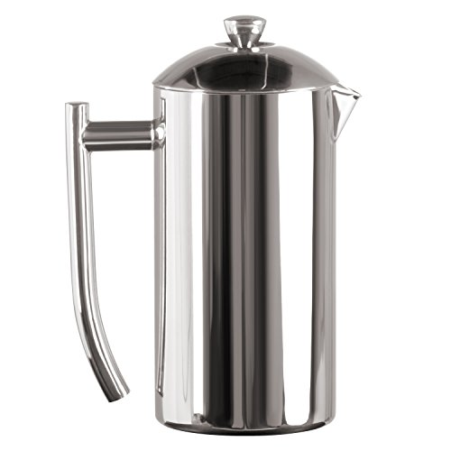 - Frieling USA Double Wall Stainless Steel French Press Coffee Maker with Patented Dual Screen, Polished, 23-Ounce