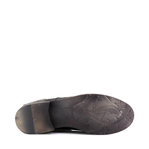 Felmini - Zapatos para Mujer - Enamorarse com Beja 1072 - Botas con Cordones - Cuero Genuino - Negro Negro