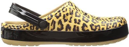 Donna Sandali Chiusa Punta Crocs Clog Camel Leopard II Crocband a Marrone wqax68I