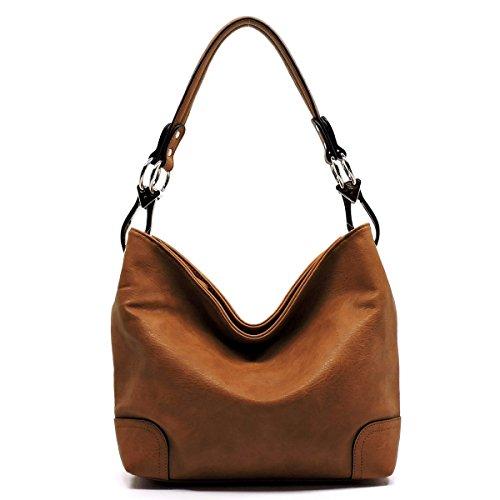 Camel Hobo (Elphis Fashion Classic Shoulder Bag Hobo Bucket Handbag Purse (79-Camel Brown))