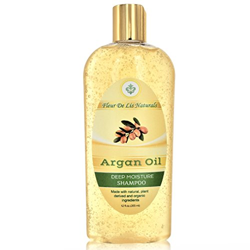 Natural & Organic Restorative Shampoo - Argan Oil, Premium Hair Regrow Shampoo for Men and Women - with Organic Argan Oil and Biotin for Thin, Frizzy, Dry Hair & Split Ends Treatment - 12 oz