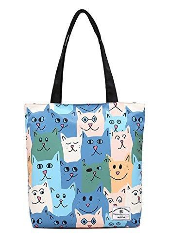 Cartoon Handbags Satchel Tote Bags Shopping Cat Shoulder Nawoshow Fashion Women Bag YgqxwEPw
