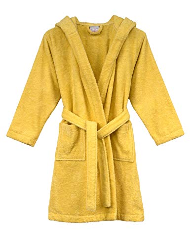 TowelSelections Big Boys' Robe, Kids Hooded Cotton Terry Bathrobe Cover-up Size 10 ()