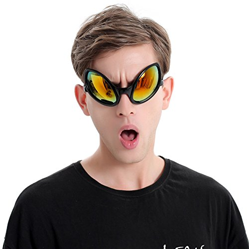Ocean Line Funny Alien Costume Mask Novelty Glasses Halloween Party Photobooth Props Favors Accessories Party Supplies Decoration Gift (Black) for $<!--$7.98-->