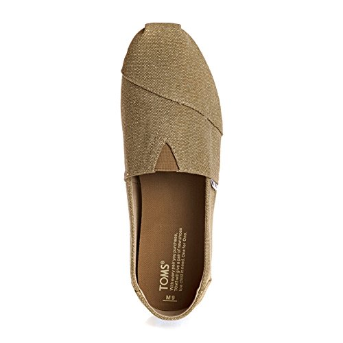 TOMS Mens Classic Canvas Slip-On Toffee Washed Canvas gRkLWQn