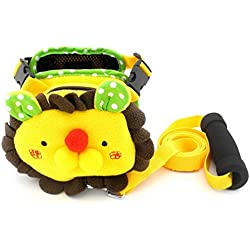 SMALLLEE_LUCKY_STORE Fleece Backpack Comfortable Harness Vest Leash Set for Small Dog Cat, Yellow, Medium