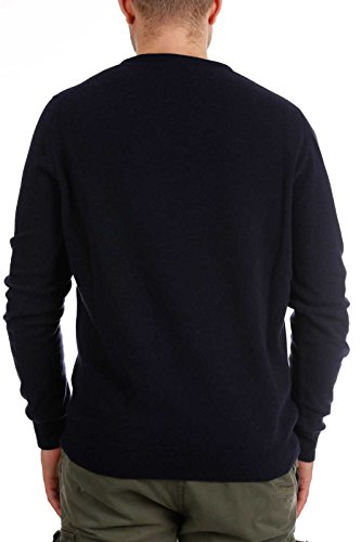 neck Maglione Blu Woolrich Uomo V 6086w Wool Men Sweater Blue Y5xqzpwRx