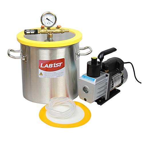 lab1st 3 Gallon Vacuum Chamber and 3 CFM Pump Kit for Degassing Silicone Epoxy by LAB1ST