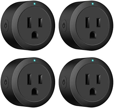 Black Smart Plug Amysen : Smart Mini WiFi Outlet, Works with Alexa and Google Home, ETL Certified, Only Supports 2.4GHz Network, No Hub Required, Remote Control, Control Your Devices from Anywhere