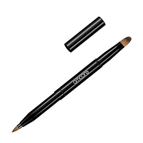 amoore Eyeshadow Brush Concealer Brush Lip Brush Dual End Retractable (black) …