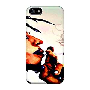 Iphone 5/5s AEJ10278aLwP Unique Design Nice Bob Marley Pattern Shock-Absorbing Hard Cell-phone Case -CharlesPoirier