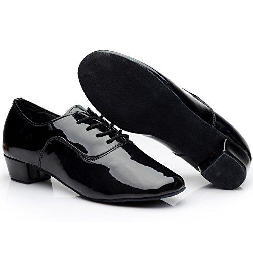 Azbro Hombre Zapato de Baile Latin Correa-arriba con Puntera Redonda Blanco