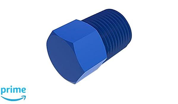 1//4-18 NPT Thread Pack of 10 Eldon James P4BN Automotive Black Nylon Threaded HEX Plug