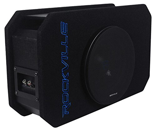 Rockville RMW8P 8″ 800w Shallow Car Subwoofer+Tunnel Slot Ported Sub Enclosure