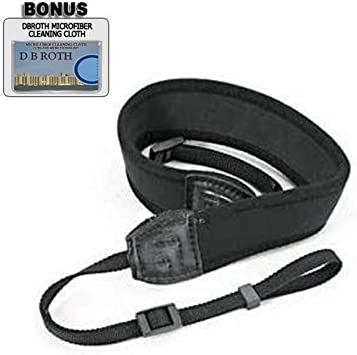 GF6 GM1 FZ70 Digital Camera G6 Deluxe Neoprene Black Wide Neck Strap For The Panasonic Lumix DMC-GX7
