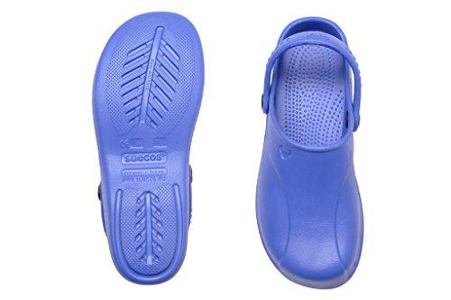 Suecos® Skoll, Zuecos de Trabajo Unisex Adulto Azul (Blue)