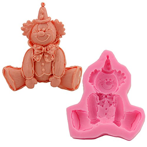 Let'S Diy Clown Pattern Fondant Silicone Mold Cake Decoration Bakeware Cooking (Dog Costumes Diy)