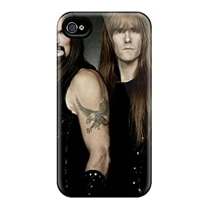 Anti-scratch And Shatterproof Black Sabbath Band Phone Case For Iphone 4/4s/ High Quality Tpu Case