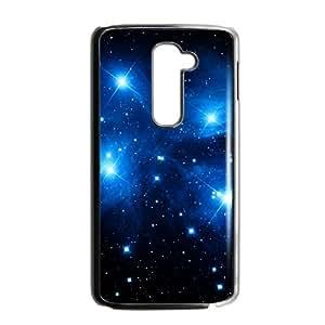 Blue stars LG G2 Cell Phone Case Black AMS0673261
